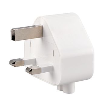 Three-prong wall plug adapter