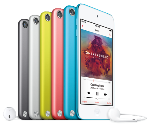 iPod touch in sei colori