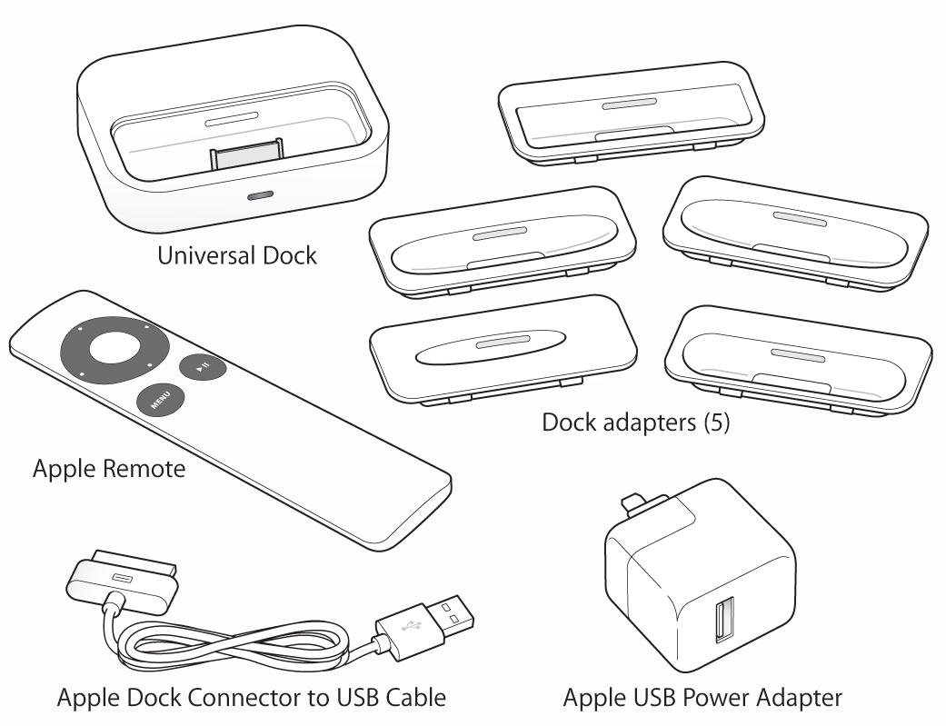 Apple universal dock and Apple remote