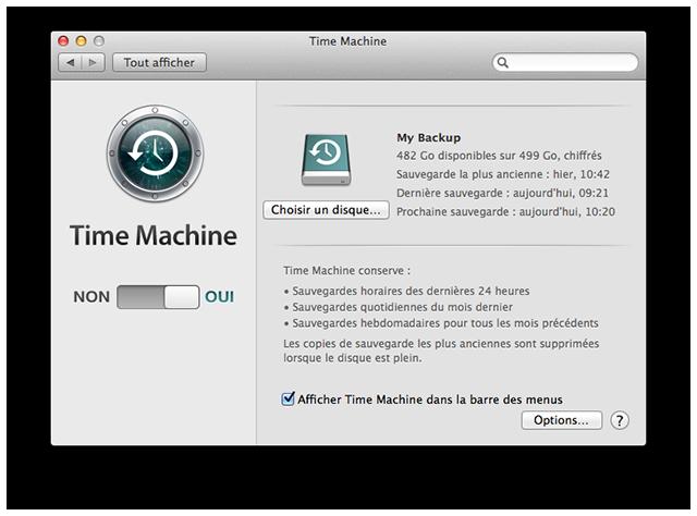 comment fonctionne time machine
