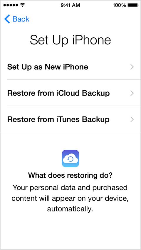 Configura iPhone