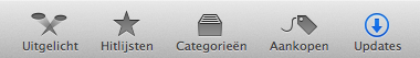 Het venster Software-update in OS X Mountain Lion