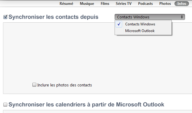 Synchroniser Calendrier Outlook Iphone Sans Itunes.Synchronisation De Contacts Et De Calendriers Avec Un Ipod