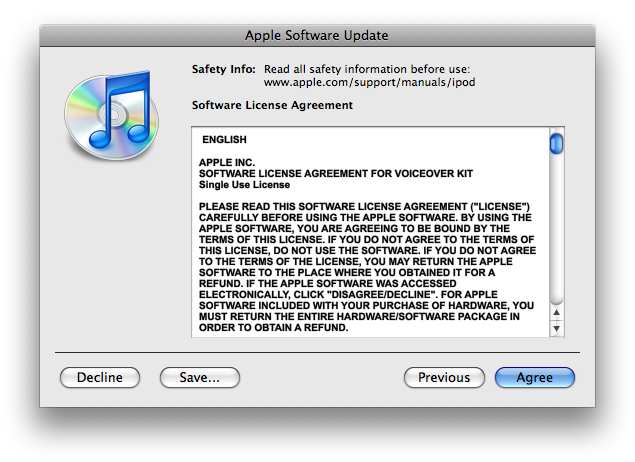 Software Update License