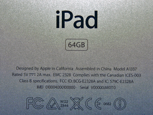 check the ipad serial number