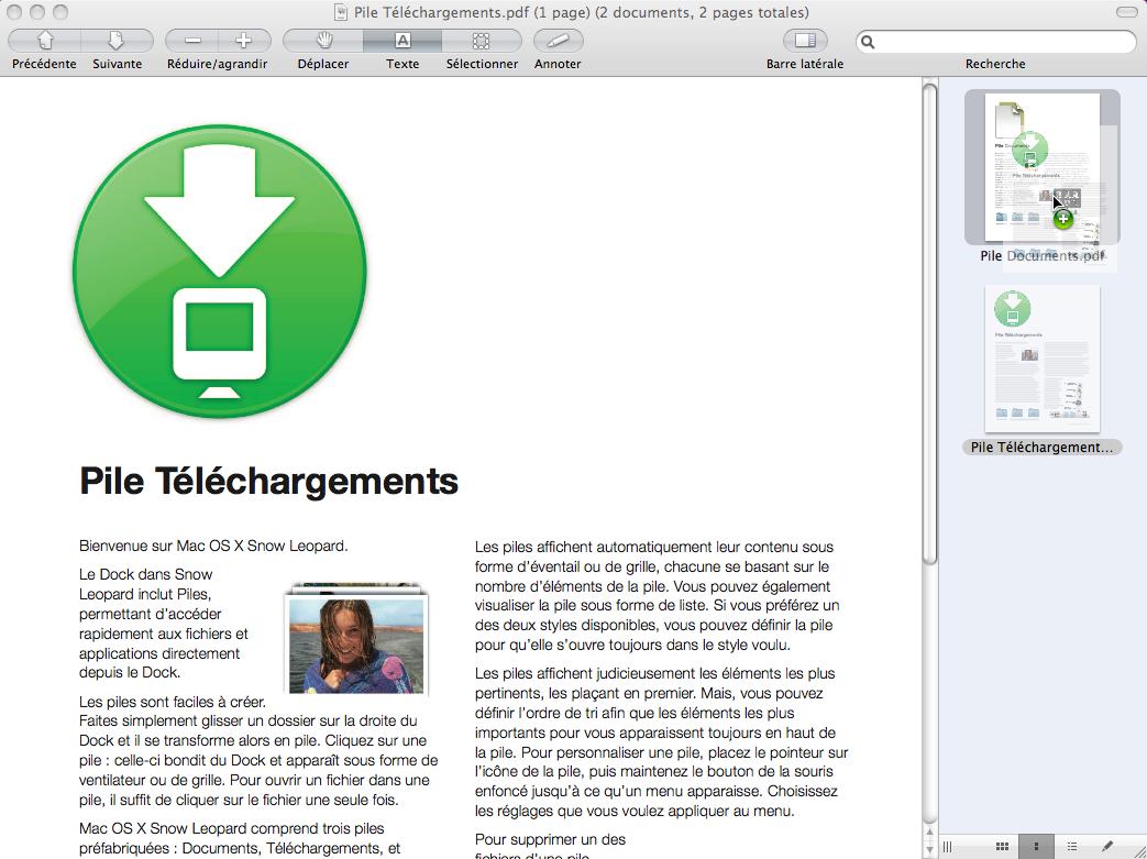 Mac Os X 10 6 Comment Utiliser Apercu Pour Combiner Des Documents