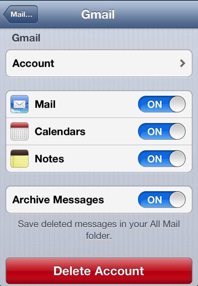 Archive Messages setting