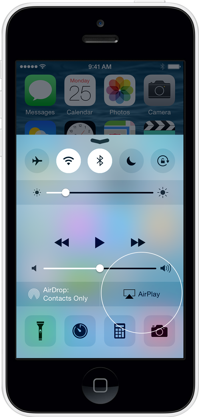 AirPlay in Control Center