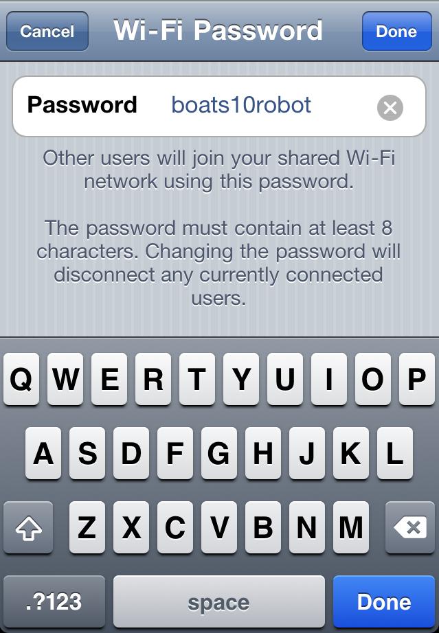 Wi-Fi 密碼