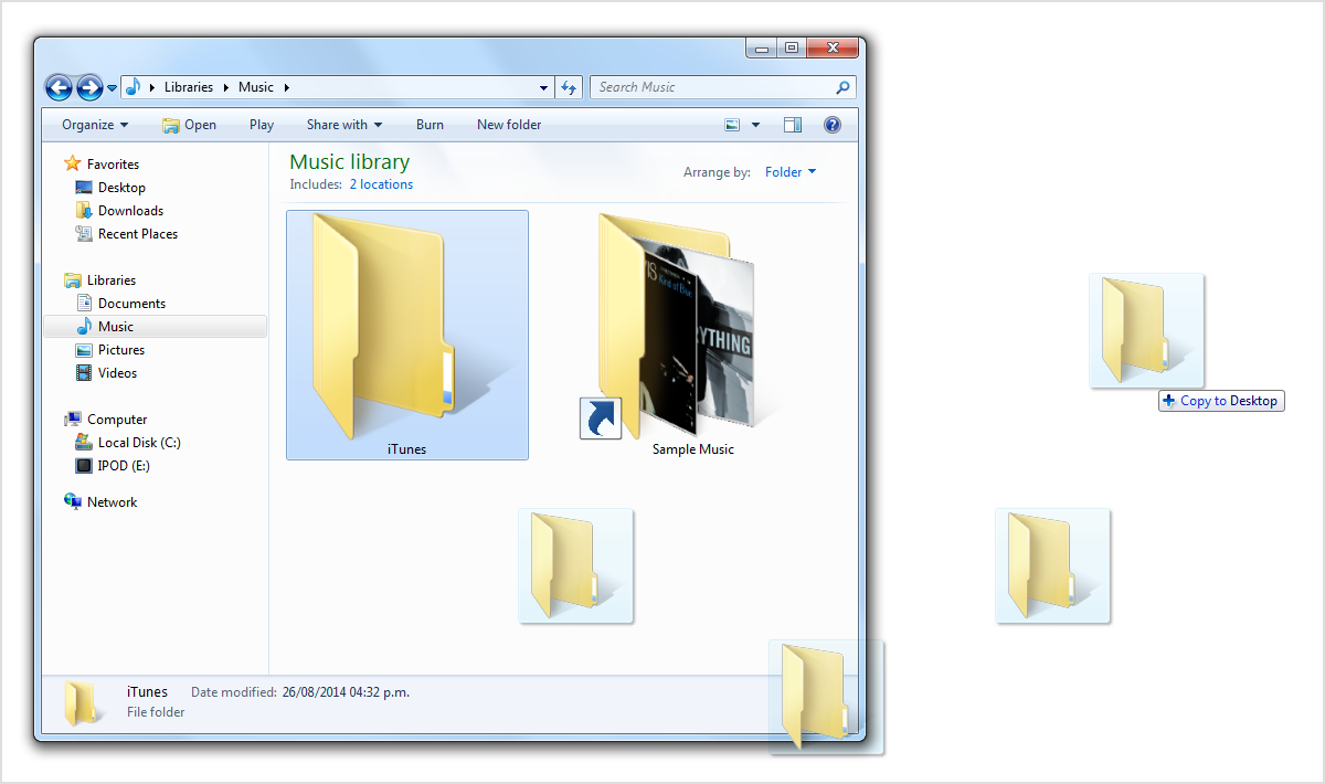 How to move your itunes library to a new computer apple for Move my documents xp