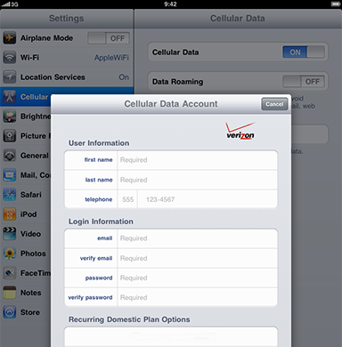 apple ipad cellular data account login verizon | speedarinpo ml