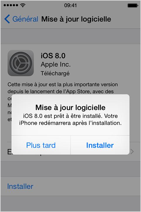 mettre à jour le logiciel ios de son iphone - résolue