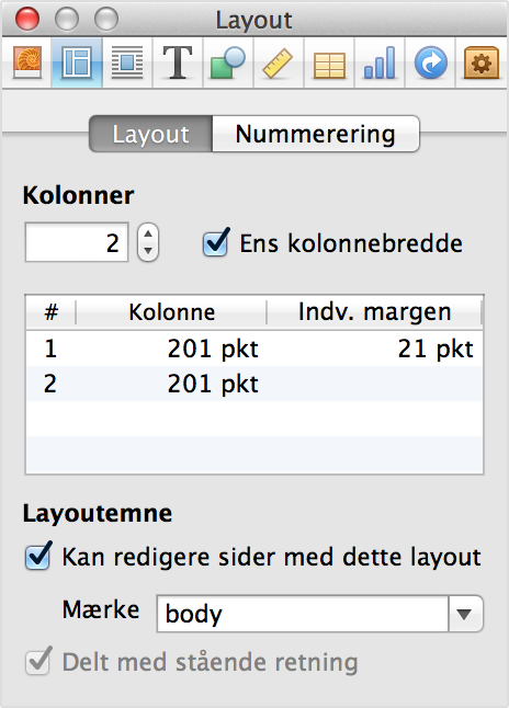 Info om layout i iBooks Author