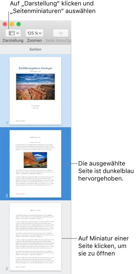 Pages Für Mac Formatieren Von Abschnitten In Einem Pages Dokument
