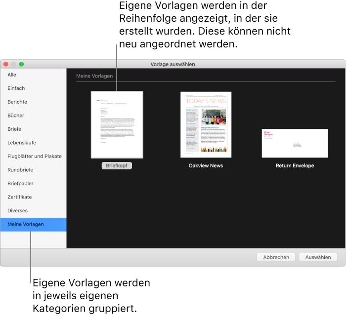 Pages Für Mac Eigene Pages Vorlage Erstellen