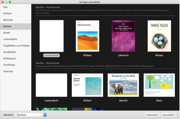 Pages Für Mac Erstellen Eines Buchs In Pages