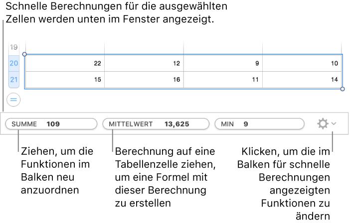 numbers f r mac berechnen von werten mithilfe der daten in tabellenzellen in einer numbers. Black Bedroom Furniture Sets. Home Design Ideas