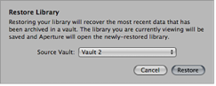 Figure. Restore Library dialog.