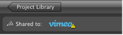 Image of the Vimeo icon with warning symbol.