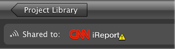 Image of the CNN iReport icon with warning symbol.
