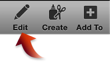 Image of the Edit button in the toolbar