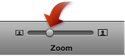 Image of the zoom slider