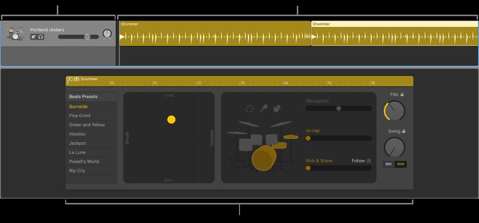 GarageBand for Mac: Create a Drummer track