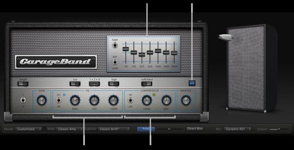 GarageBand for Mac: Use the bass amp effects