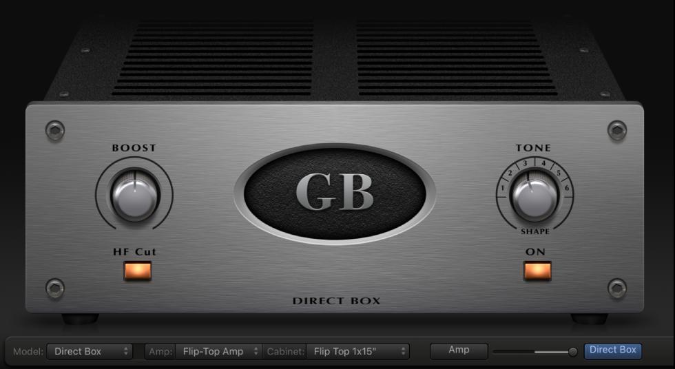 garageband for mac use the direct box. Black Bedroom Furniture Sets. Home Design Ideas