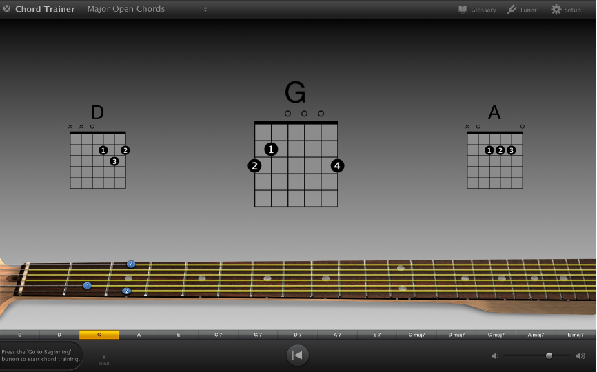 GarageBand for Mac: Practice guitar chords