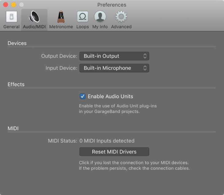 Garageband For Mac Audio Midi Preferences