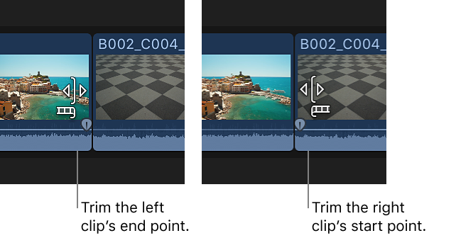 Final Cut Pro X: Extend or shorten a clip
