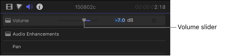Final Cut Pro X: Adjust volume