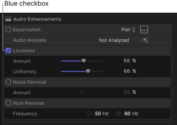 Final Cut Pro X: Enhance audio