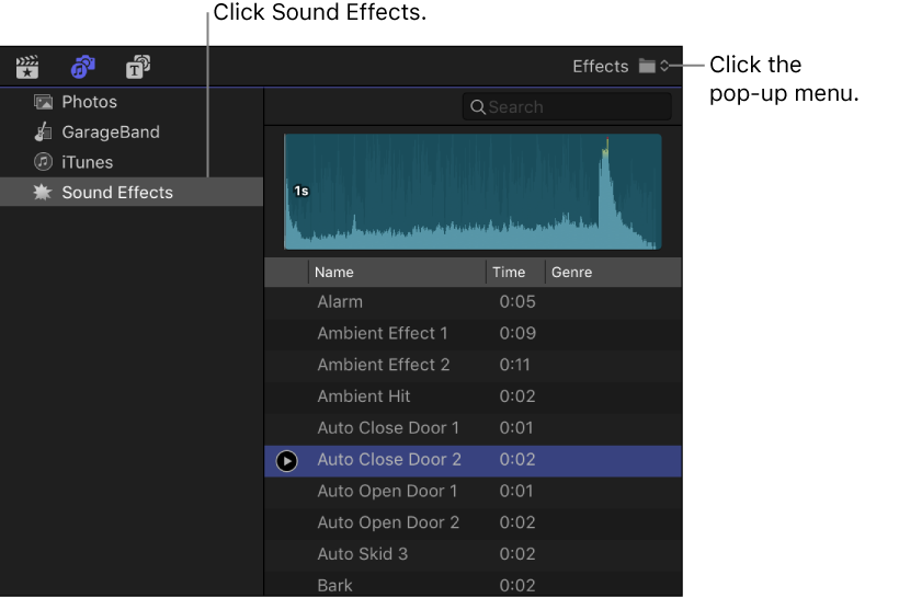 Final Cut Pro X: Add custom audio clips and folders to the