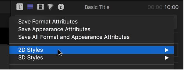 Final Cut Pro X: Apply preset text styles