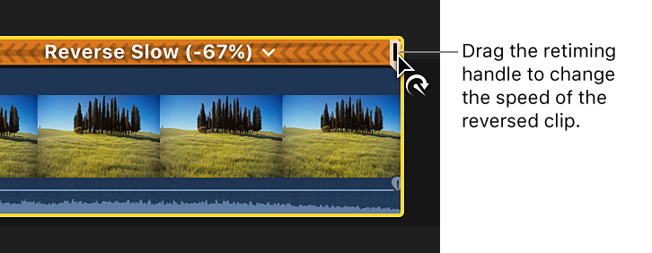 Final Cut Pro X: Reverse or rewind clips