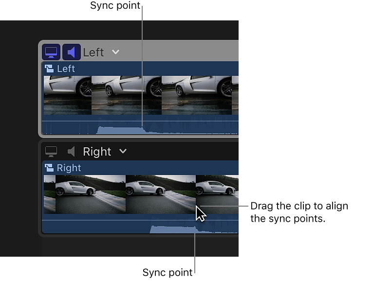 Final Cut Pro X: Sync and adjust angles and clips in the