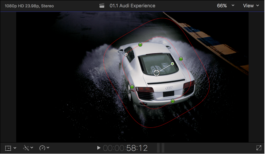 Final Cut Pro X: Target specific areas using shape masks