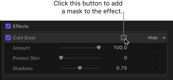 Final Cut Pro X: Apply a shape mask to a video effect