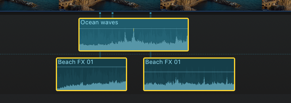 Final Cut Pro X: Fade audio in or out