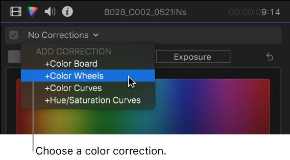 Final Cut Pro X: Add a color correction