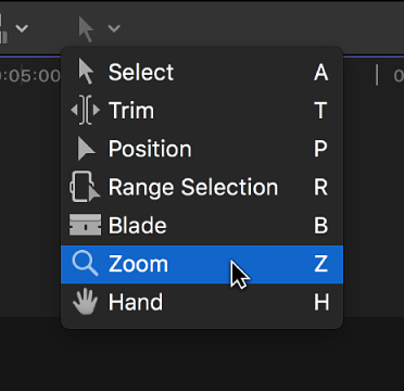 finest selection 556b3 8a7d4 The Zoom tool in the Tools pop-up menu