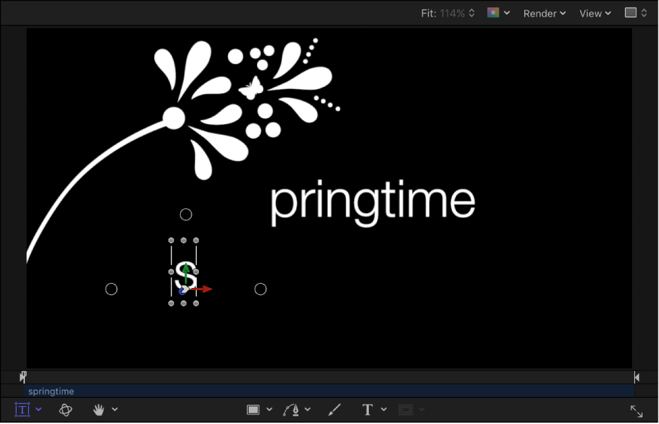 Motion: Animate individual text glyphs