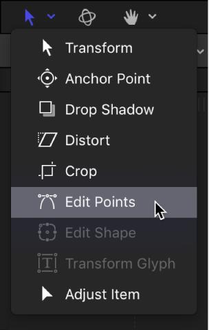 Motion: Edit Bezier control points