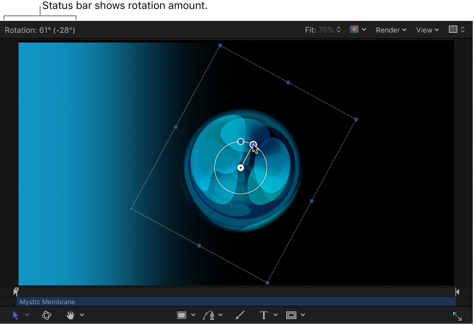 Motion: Change a layer's position, scale, or rotation