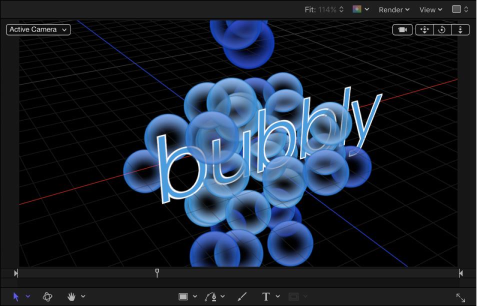 Motion: Create 3D particles