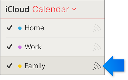 The Shared Calendar icon in the calendar list