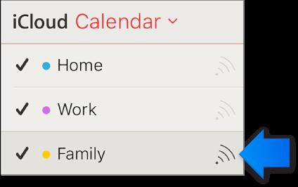 The Shared Calendar icon in the calendar list