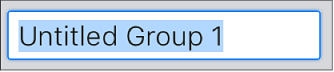 Create Group text field